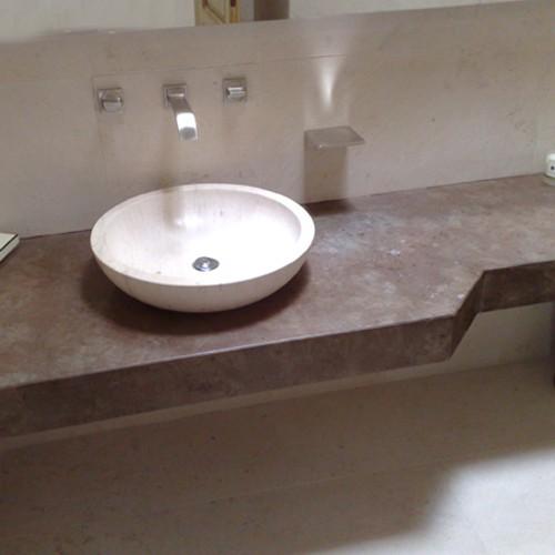 Marmi Per Bagni. Interesting Lavabo Sottopiano Con Top In Marmo With ...